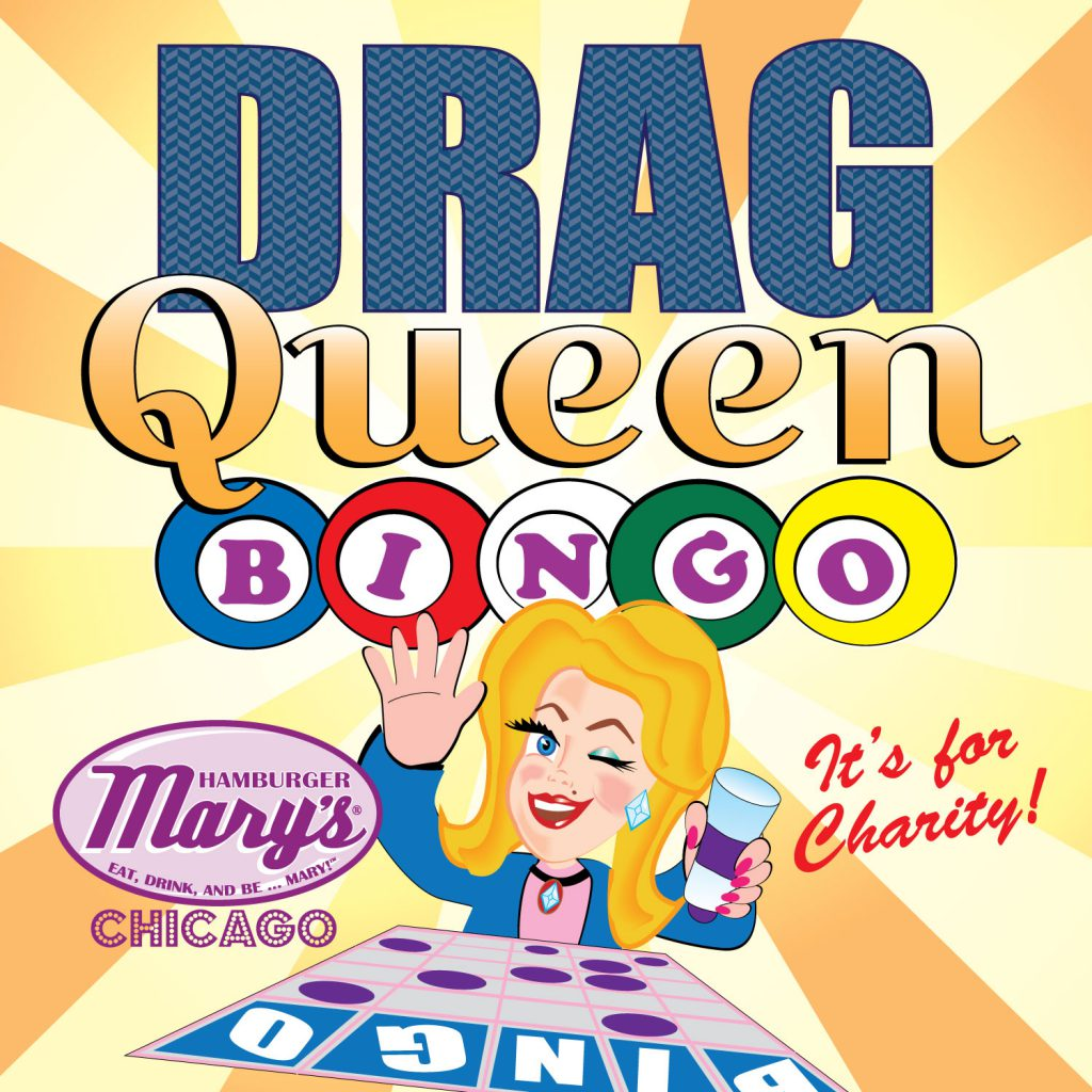 Charity drag queen bingo poster