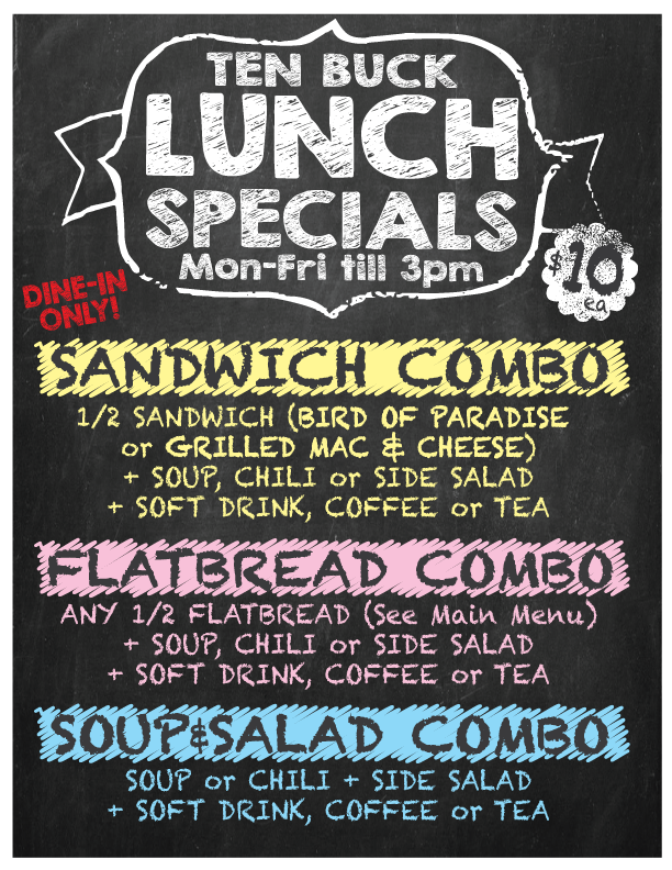 $10 Lunch special every Mon-Fri from 11:30a-3p