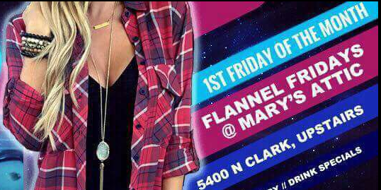 Flannel Fridays... queer women night first Friday every month