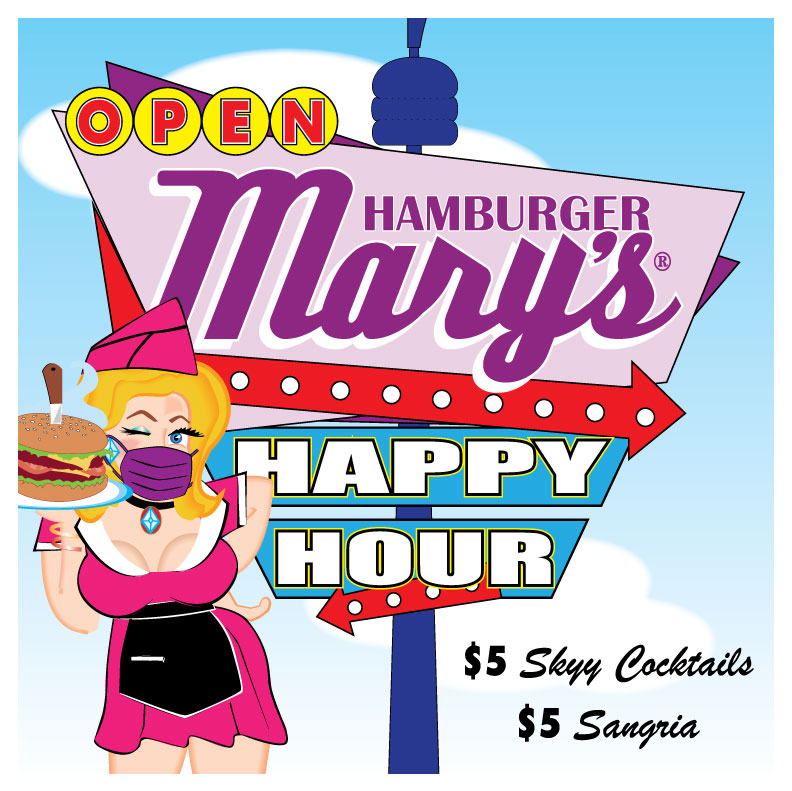 Happy Hour with $5 Skyy Cocktails and Sangria