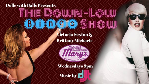 Photos of Brittany and Victoria, down low bingo at 9pm Wednesdays