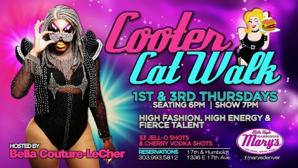 photo of bella couture with Cooter Catwalk 1st and third thursdays, jello shot promo $3