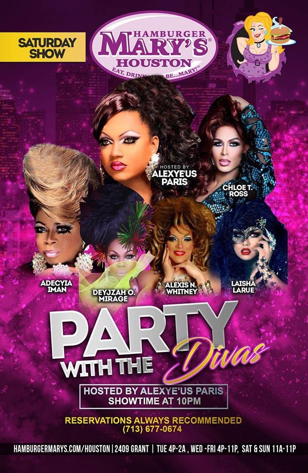 Partying With The Divas Saturdays