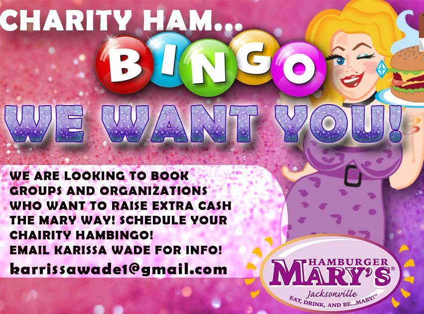 hamBINGO charity bingo every Monday & Tuesday