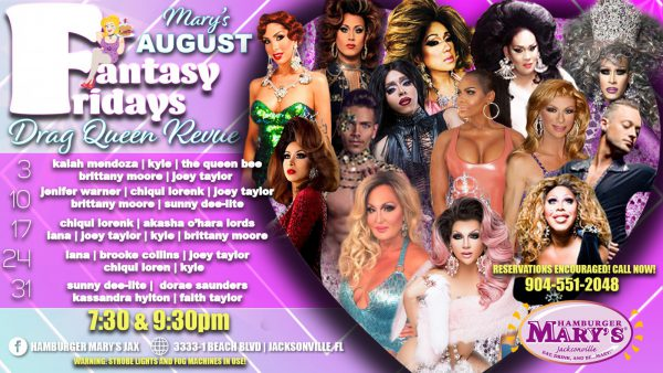 Fantasy Friday's Drag Queen Revue 7:30 & 9:30pm