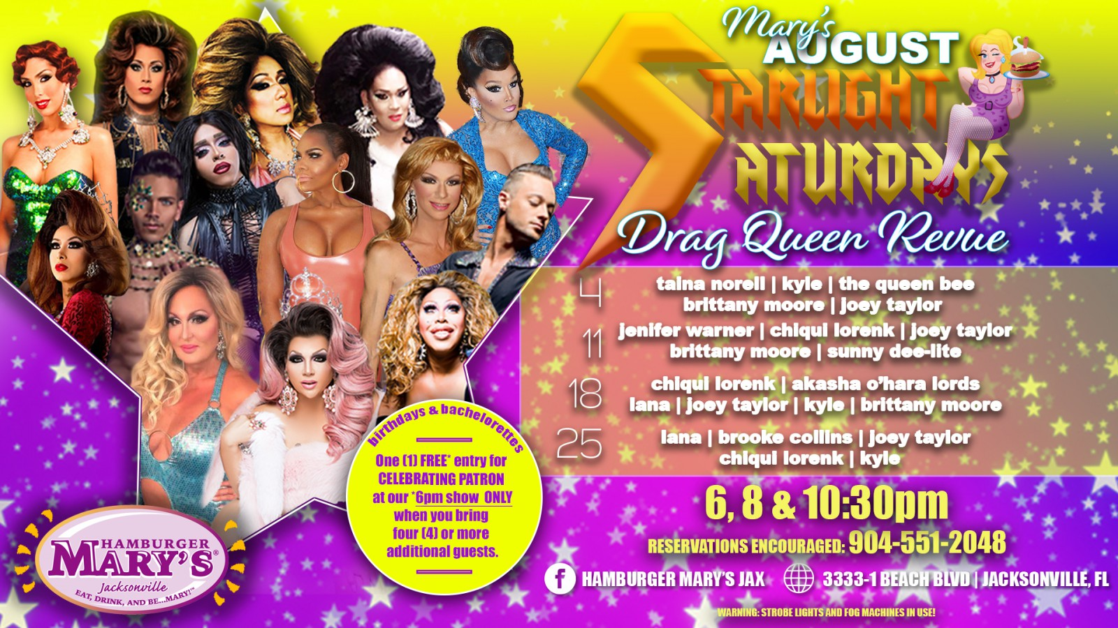 Starlight Saturdays Drag Quen 6, 8, & 10pm