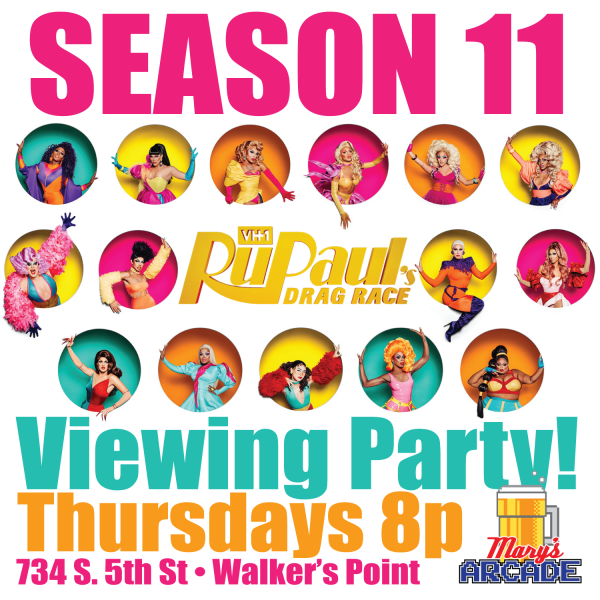 RuPauls Drag Race Season 11 viewing party... Thursdays 8pm
