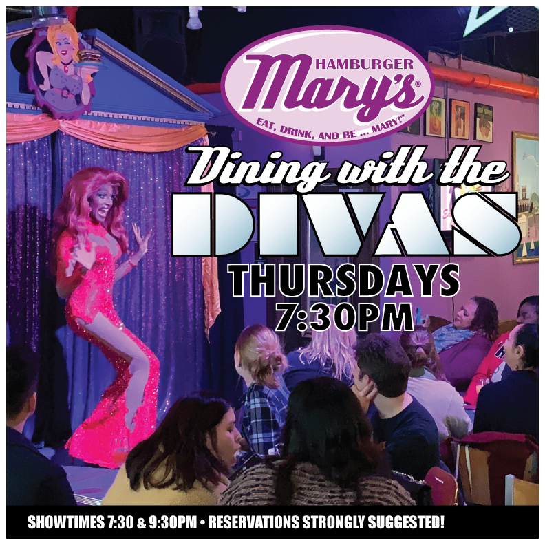 Dining with the Divas... Thursdays at 7:30pm