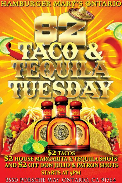 $2 Taco and Tequila Tuesday