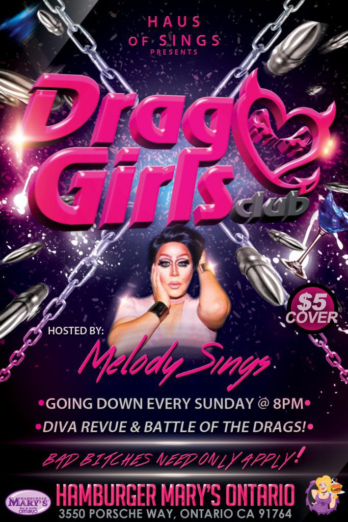 Drag Girls Club - Every Sunday at 8pm - $5 cover