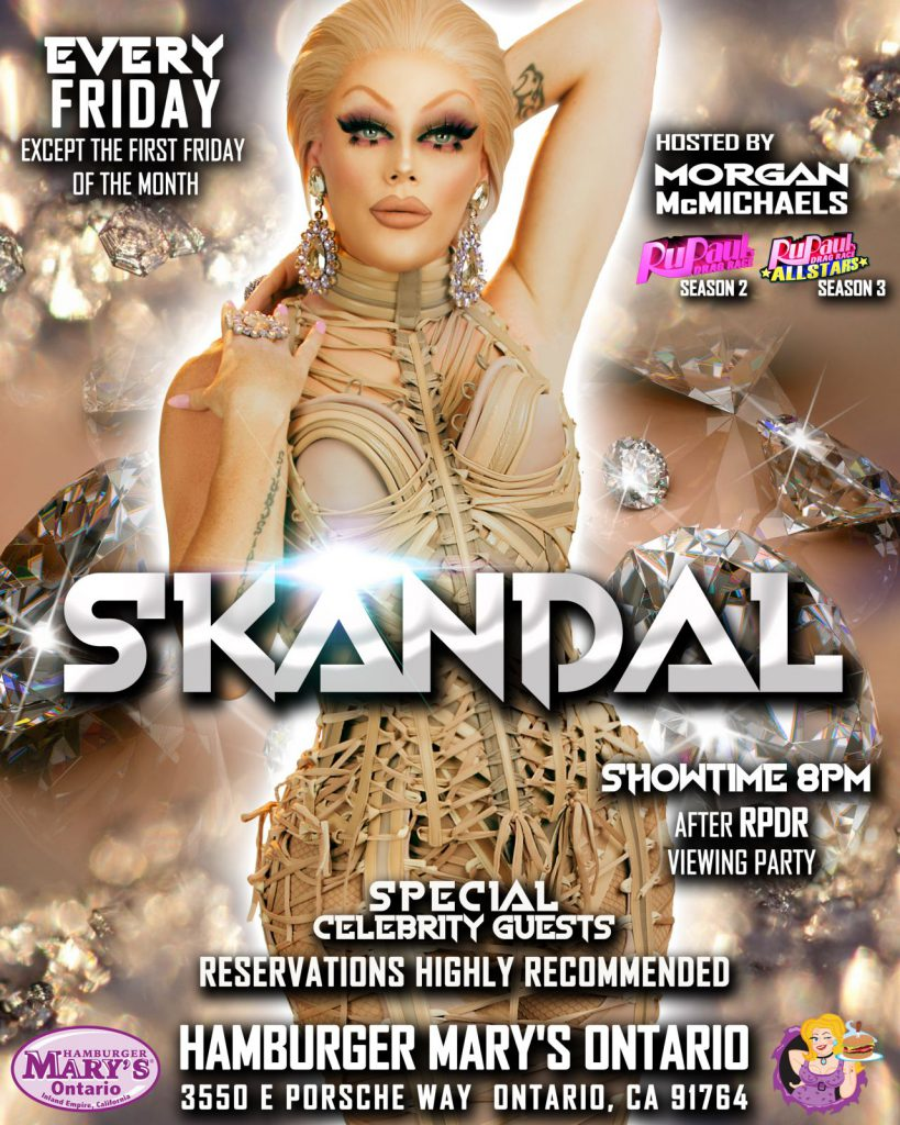 Skandal - Every Friday except the first Friday of the month - Showtime 8pm