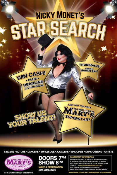 Nicky Monet's Star Search