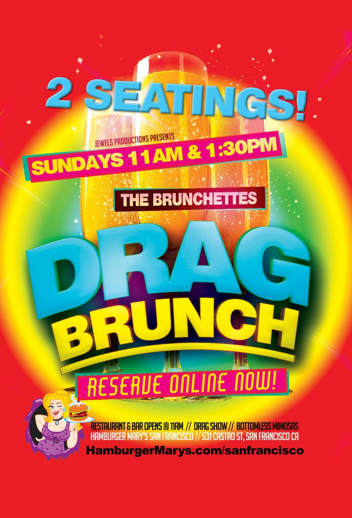 Sunday Drag Brunch at 11am and 1:30pm