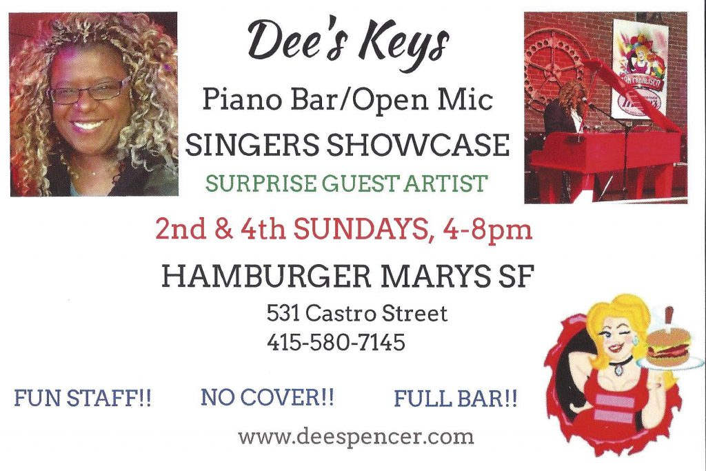 dees keys piano bar and open mic - 4th Sundays