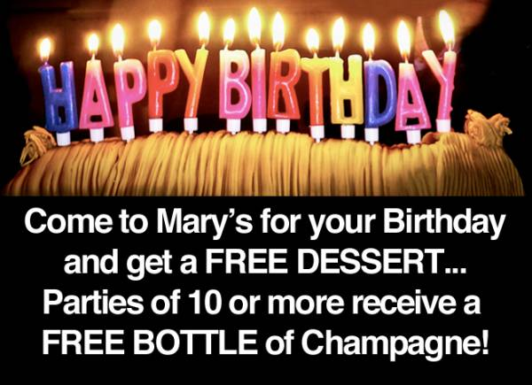 Birthday Parties at Marys